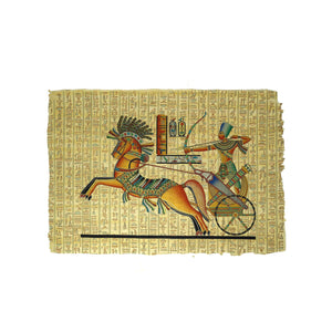 Ramses II on Chariot with Goddess Nekhbet - 40x60cm