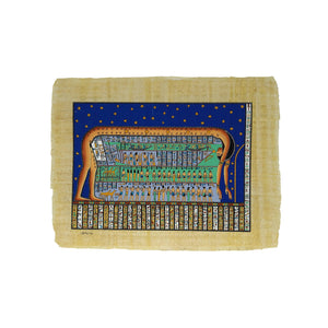 Hand-painted Goddess Nut Papyrus - Ancient Egyptian Sun / Moon Cycle - 30x40cm