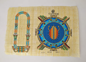Customizable Egyptian Zodiac Cancer Papyrus - We paint your name in Hieroglyphics! Egyptian Astrology from Dendera Temple - 20x30cm