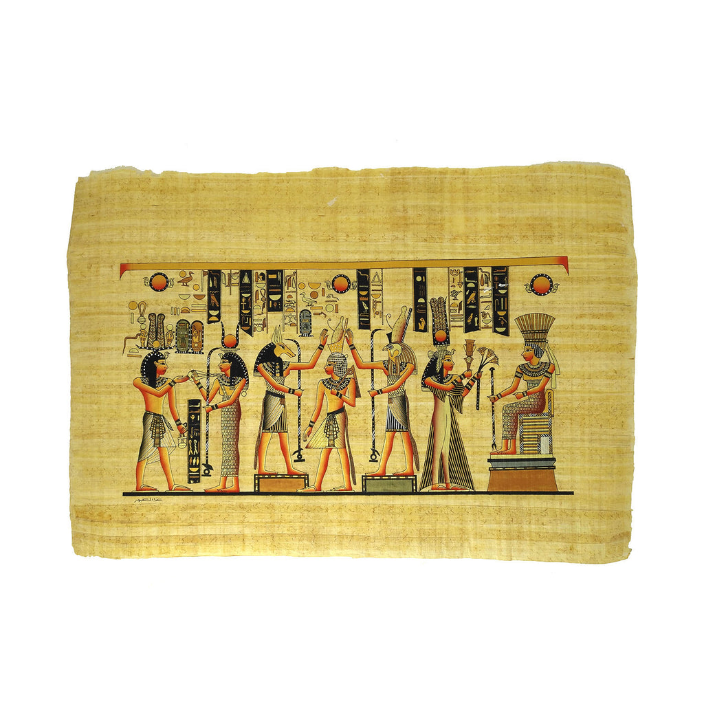 Goddesses Isis and Hathor, Gods Anubis and Hours & Pharaoh Ramses II with Queen Nefertari 40x60cm