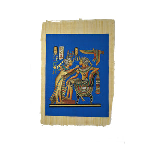 King Tutankamun and Queen Ankhesenamun Throne Room - 40x60cm