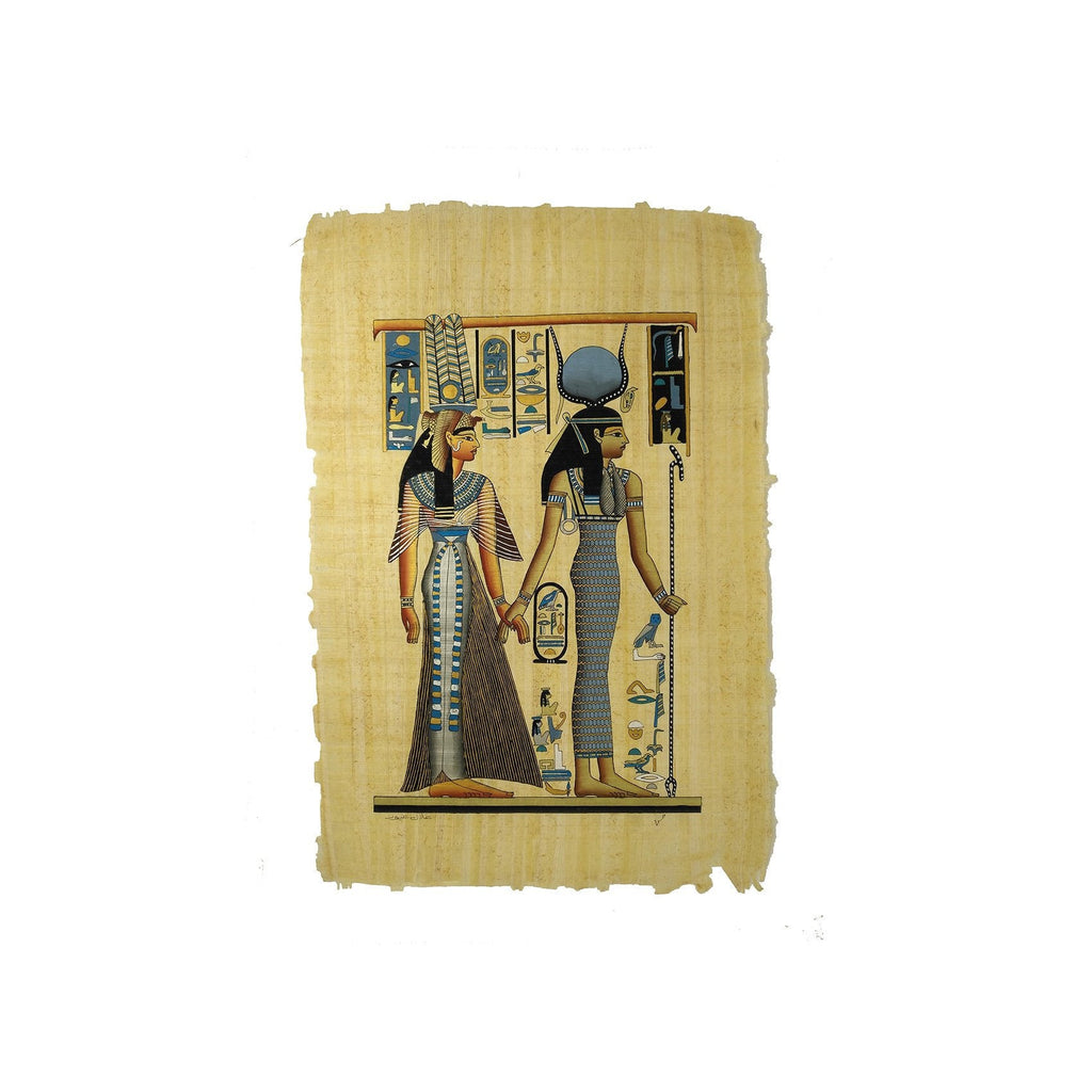 Egyptian Goddess Isis Leading Queen Nefertari into the Afterlife