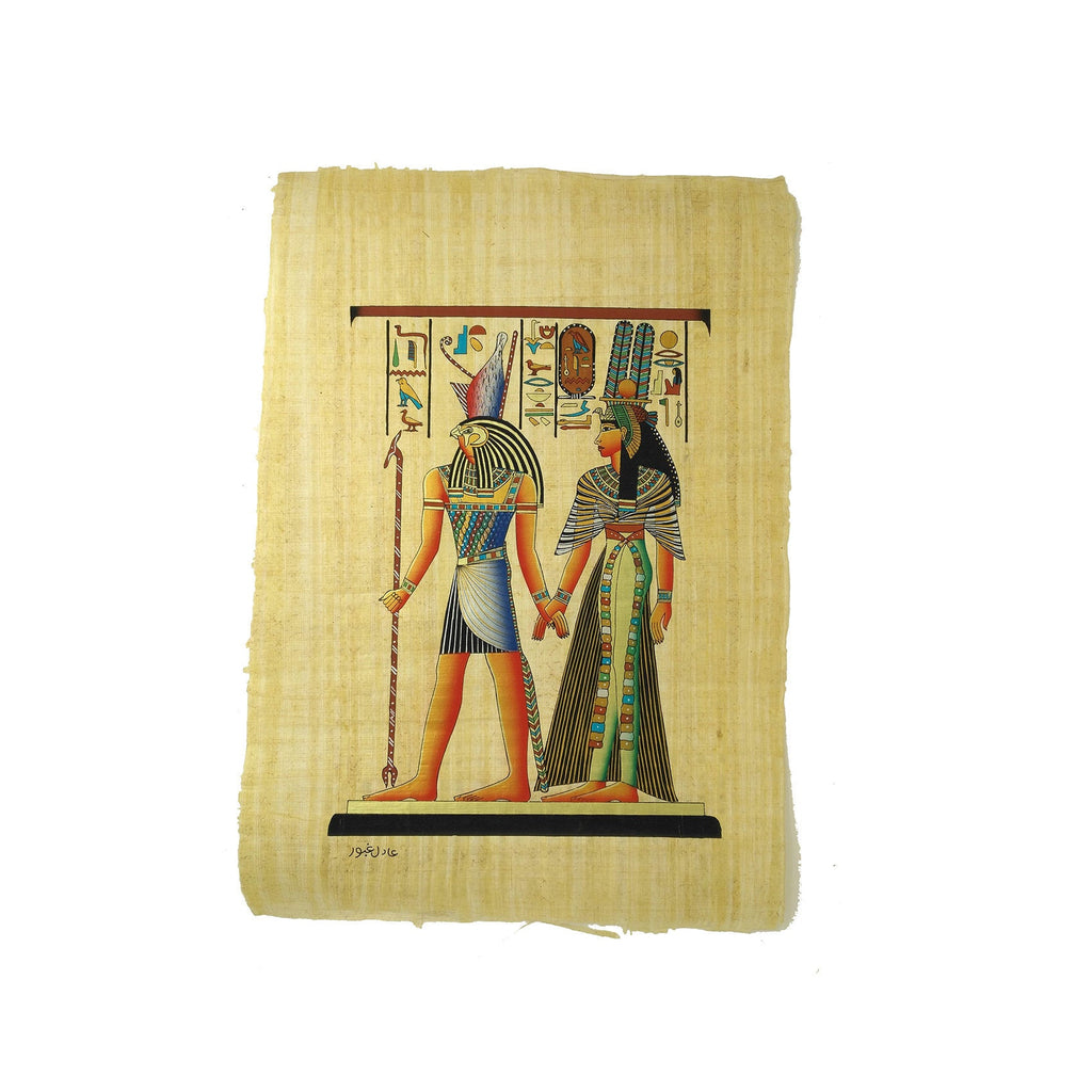 Egyptian God Horus Leading Queen Nefertari into the Afterlife - 40x60cm