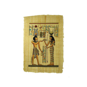 Ramses II making an offering to Goddess Hathor Papyrus - 40x60cm