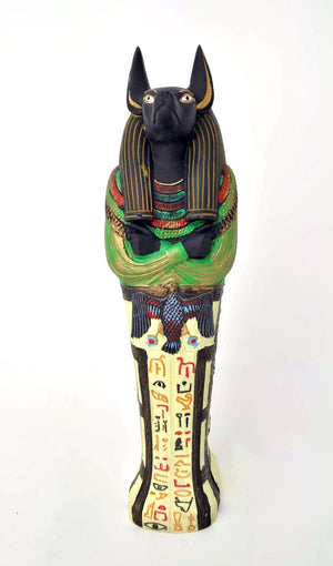 Anubis Sarcophagus Letter Opener Knife - Ancient Egyptian God Anubis Sarcophagus Box with Anubis