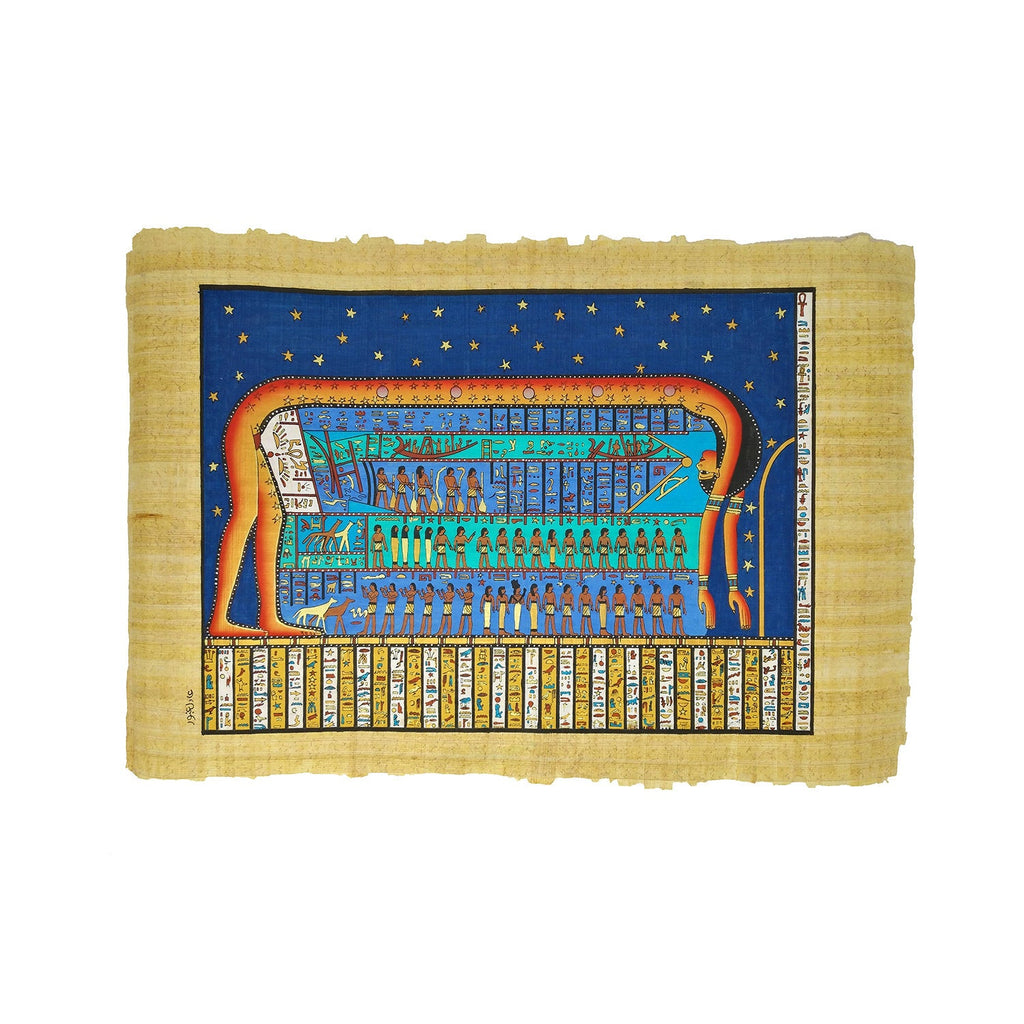 The Goddess Nut - Ancient Egyptian Sun / Moon Cycle - 40x60cm