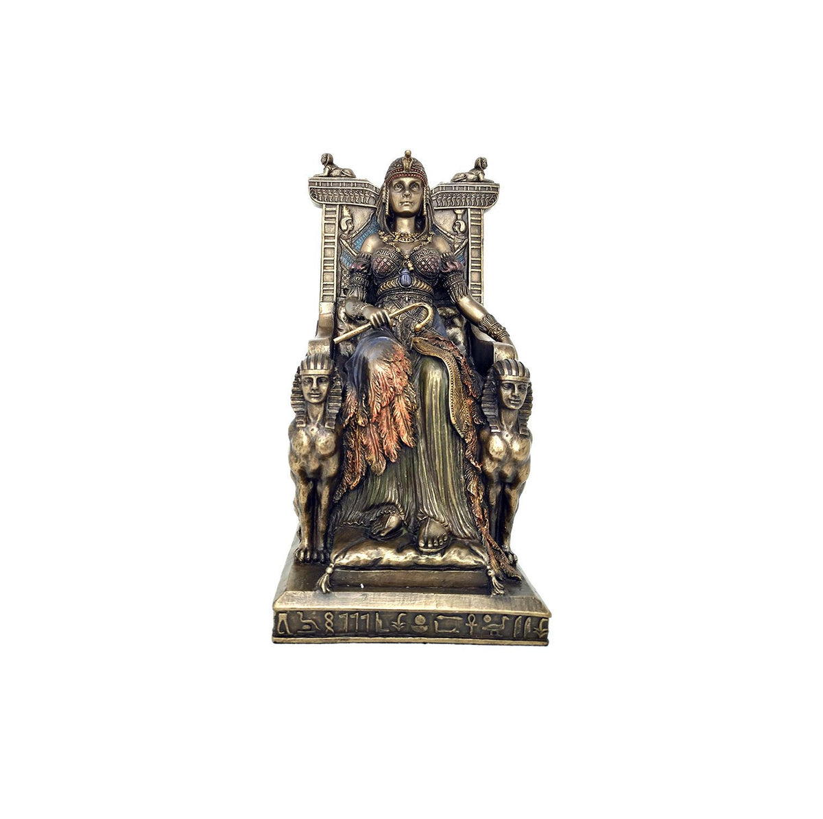 Queen Cleopatra on Ceremonial Throne Statue