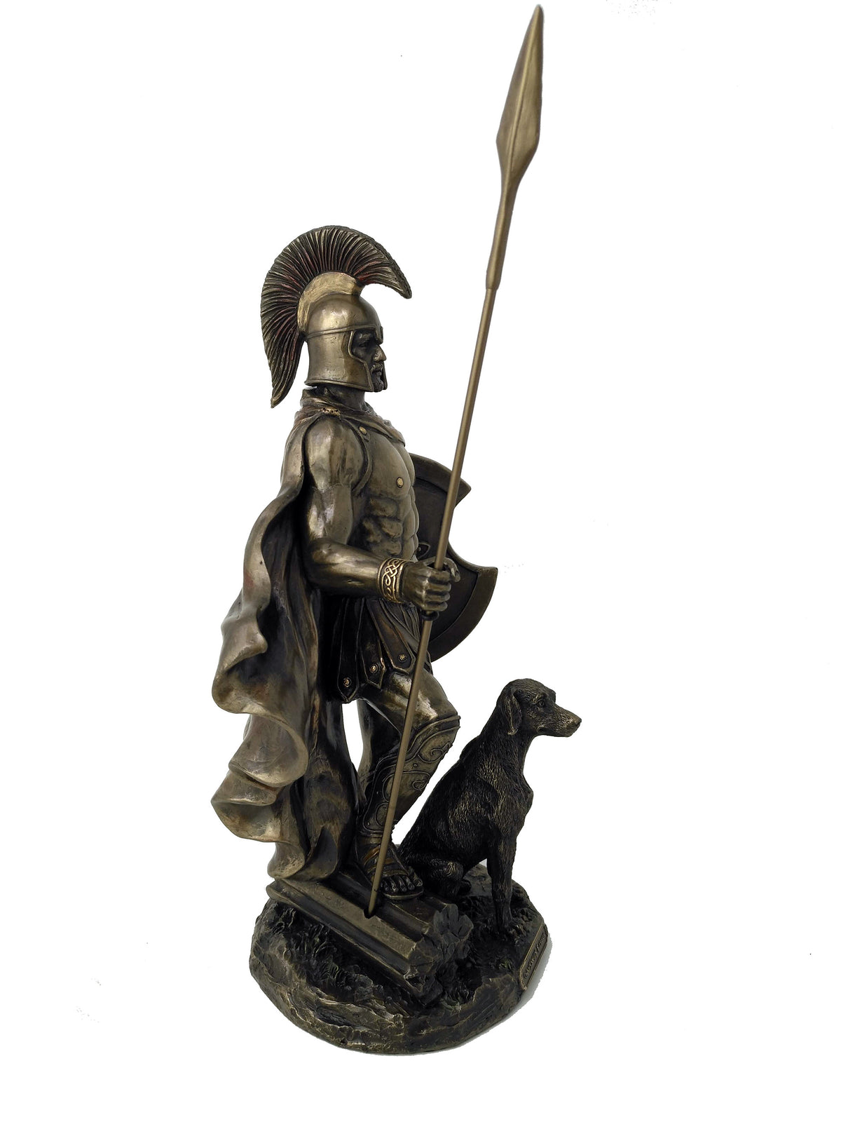 Large Odysseus, Hero of Homer's Odyssey Statue - Ancient Greek Legendary Hero Odysseus with His Dog Arrgo 13'' / 33cm Tall!