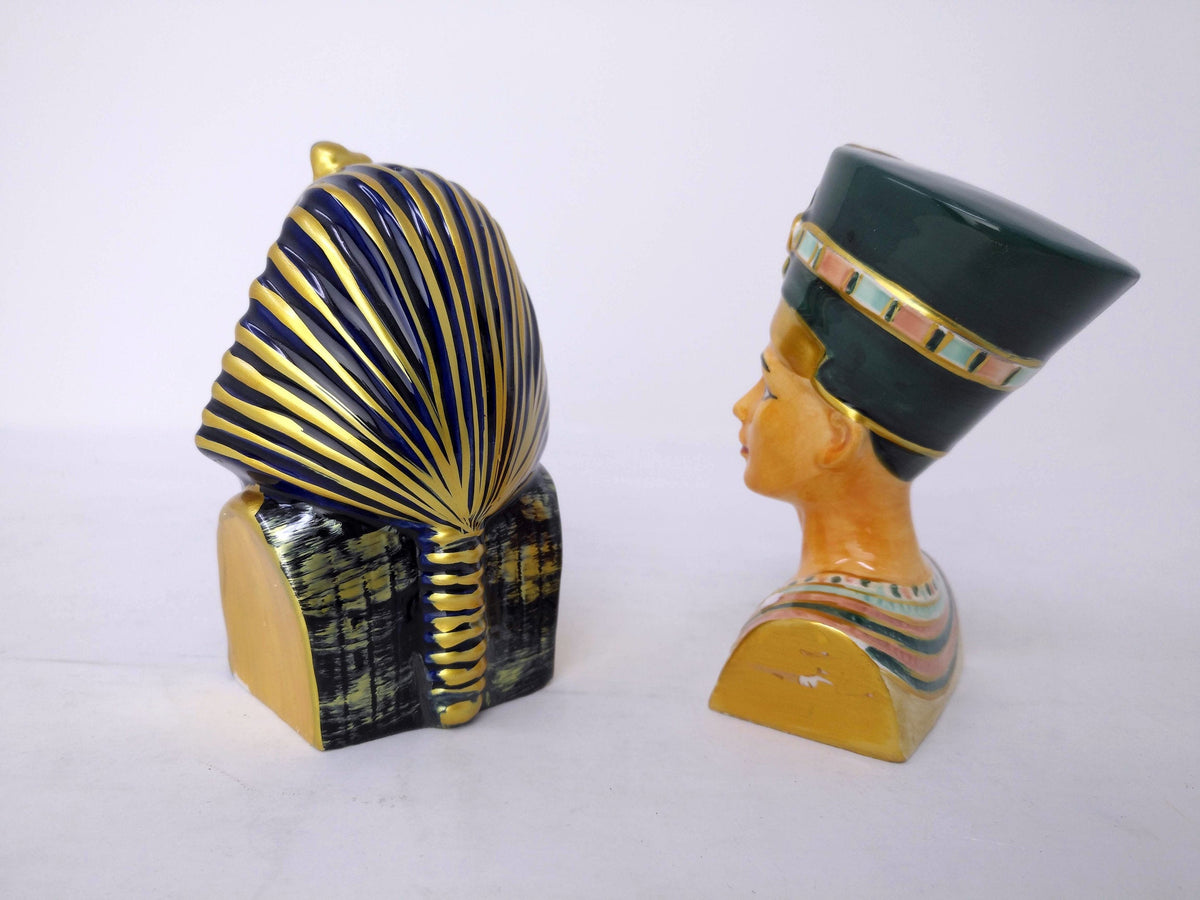 King Tutankamun & Queen Nefertiti Salt and Pepper Shakers