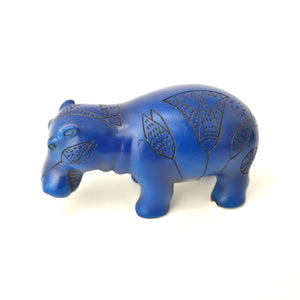 Small Hand-Painted Egyptian Hippopotamus Statue - Ancient Egyptian