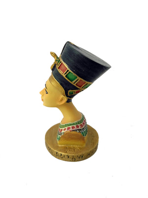 Small Queen Nefertiti Bust Figurine - Ancient Egyptian Queen Nefertiti Bust with Hand-painted detail - Perfect Size for anywhere! -