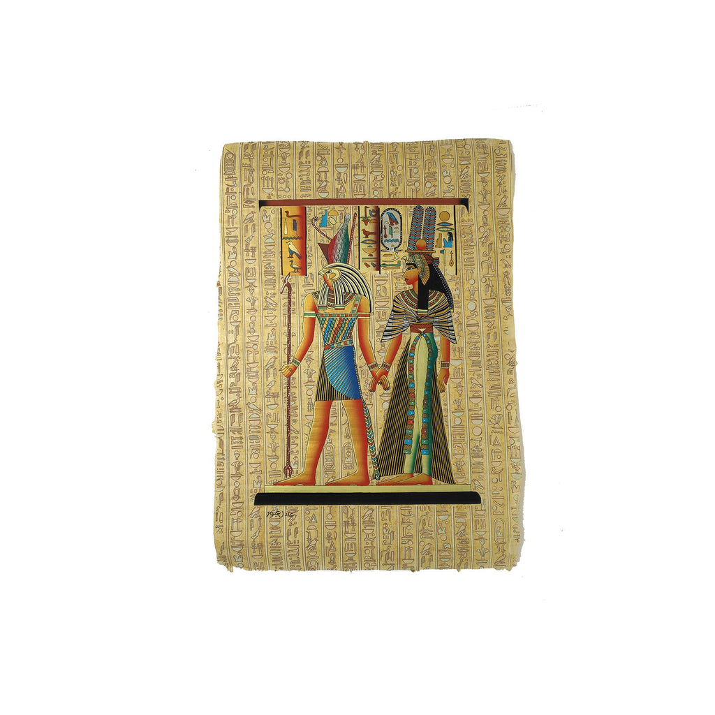 Egyptian God Horus Leading Queen Nefertari into the Afterlife