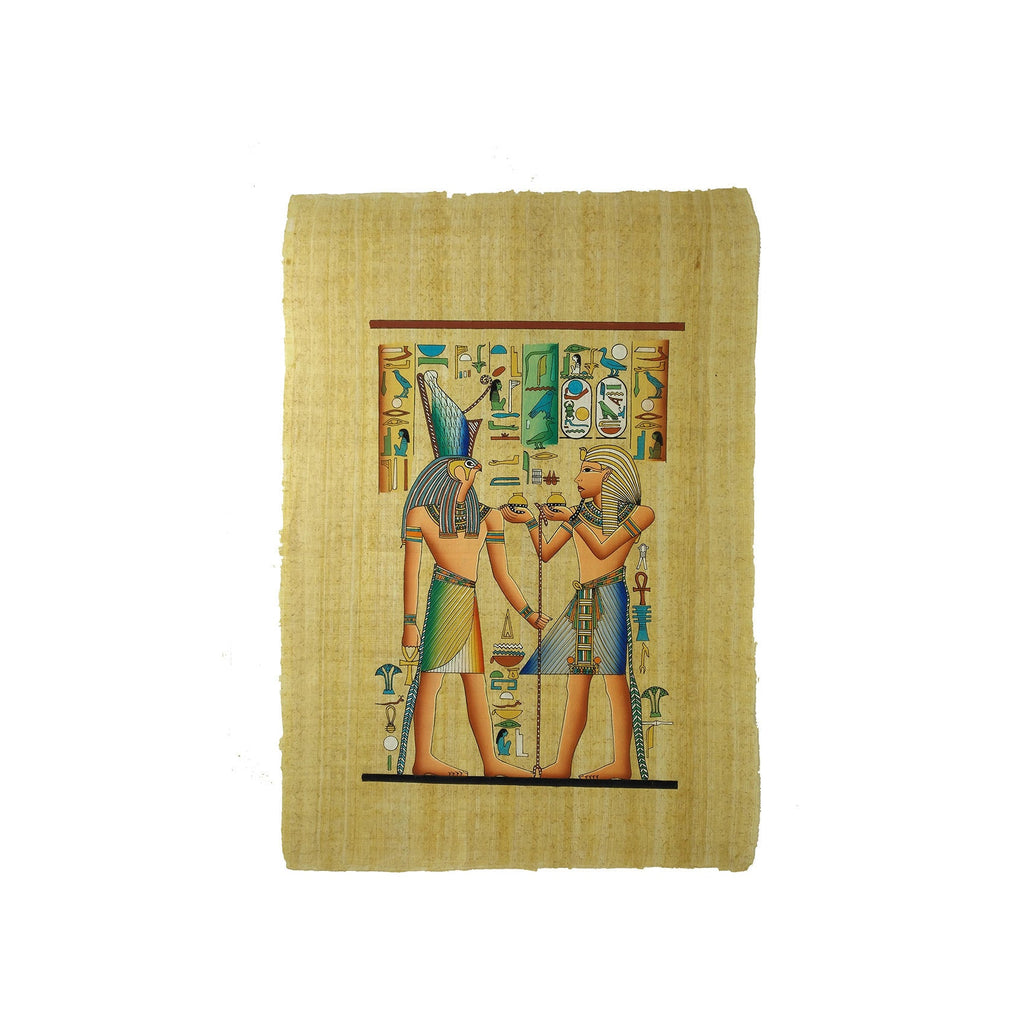 Ramses II offering Oils to the Ancient Egyptian God Horus - 40x60cm