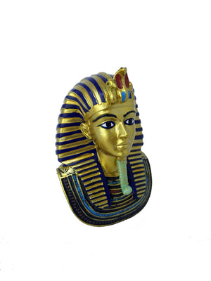Small King Tutankamun Replica Mask - Museum Replica of Ancient Egyptian King Tutankamun Golden Death Mask  - 4.5 inches / 11cm