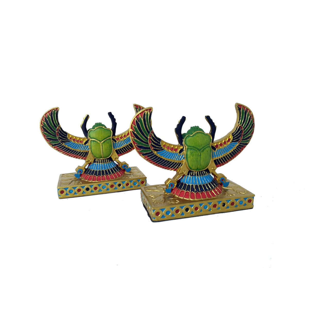 Winged Scarab Beetle Statue