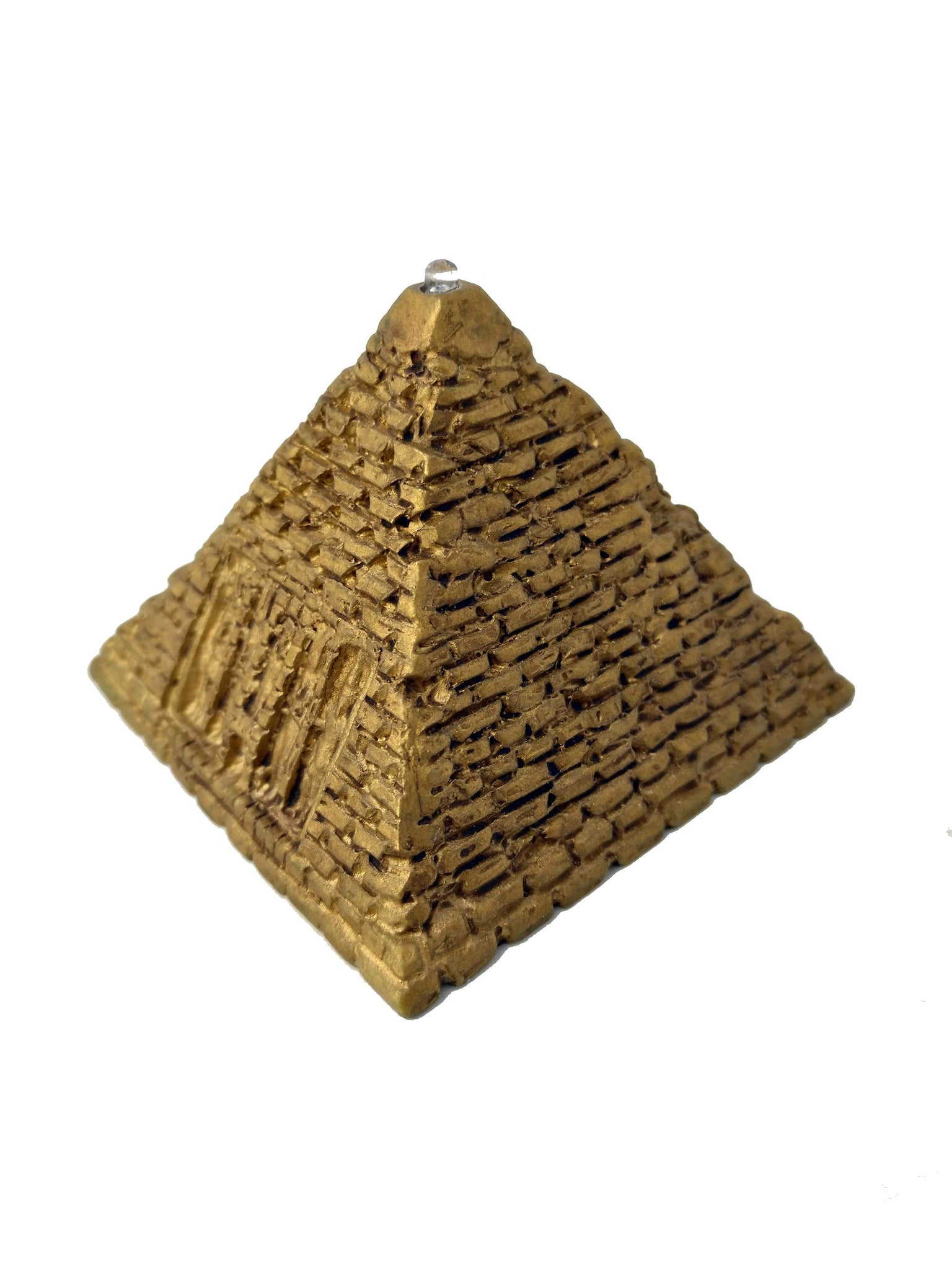 Small LED Egyptian Pyramid Light - Hand-Painted Egyptian pyramid with LED Light - 2 inches - 5cm