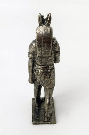 Small Cast Pewter Anubis Statue - Ancient Egyptian God Anubis Figurine in Solid Pewter