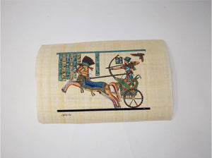 Ramses II on Chariot with Goddess Nekhbet Pastel Colours - 20x30cm
