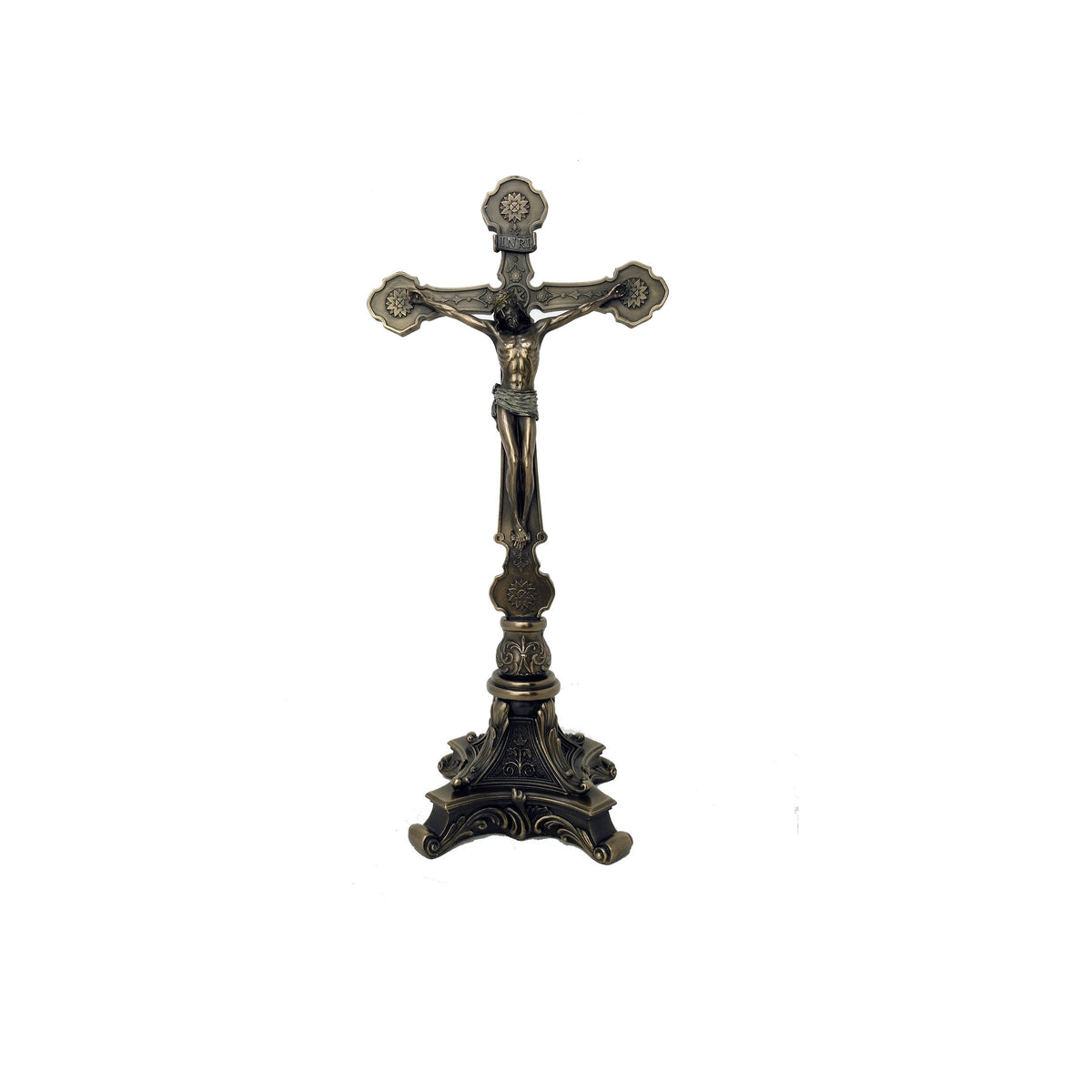 Standing Crucifix - Jesus Christ On Cross Bronze Statue