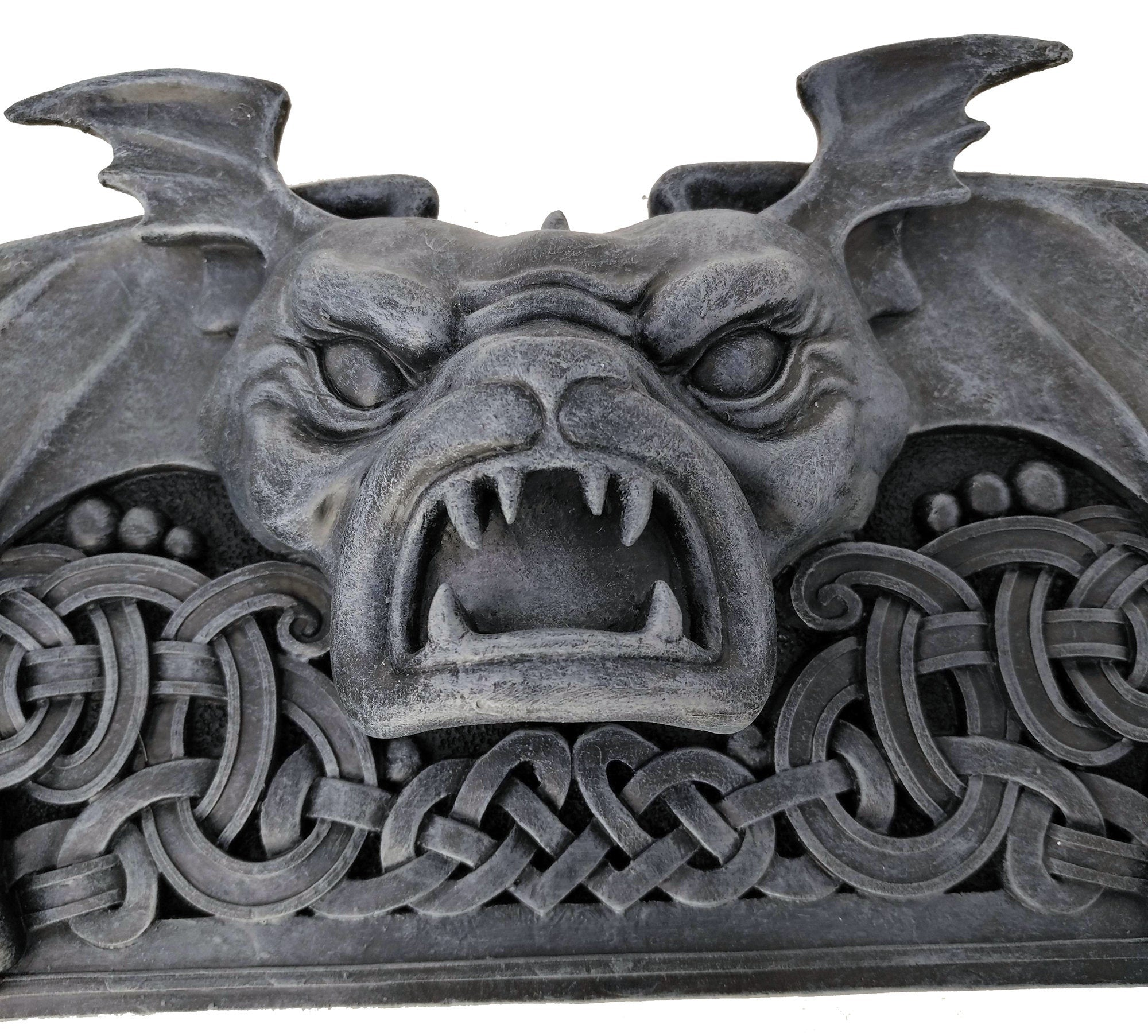 Large Gargoyle Wall Pediment - Hand-Painted Gargoyle Wall Hanging