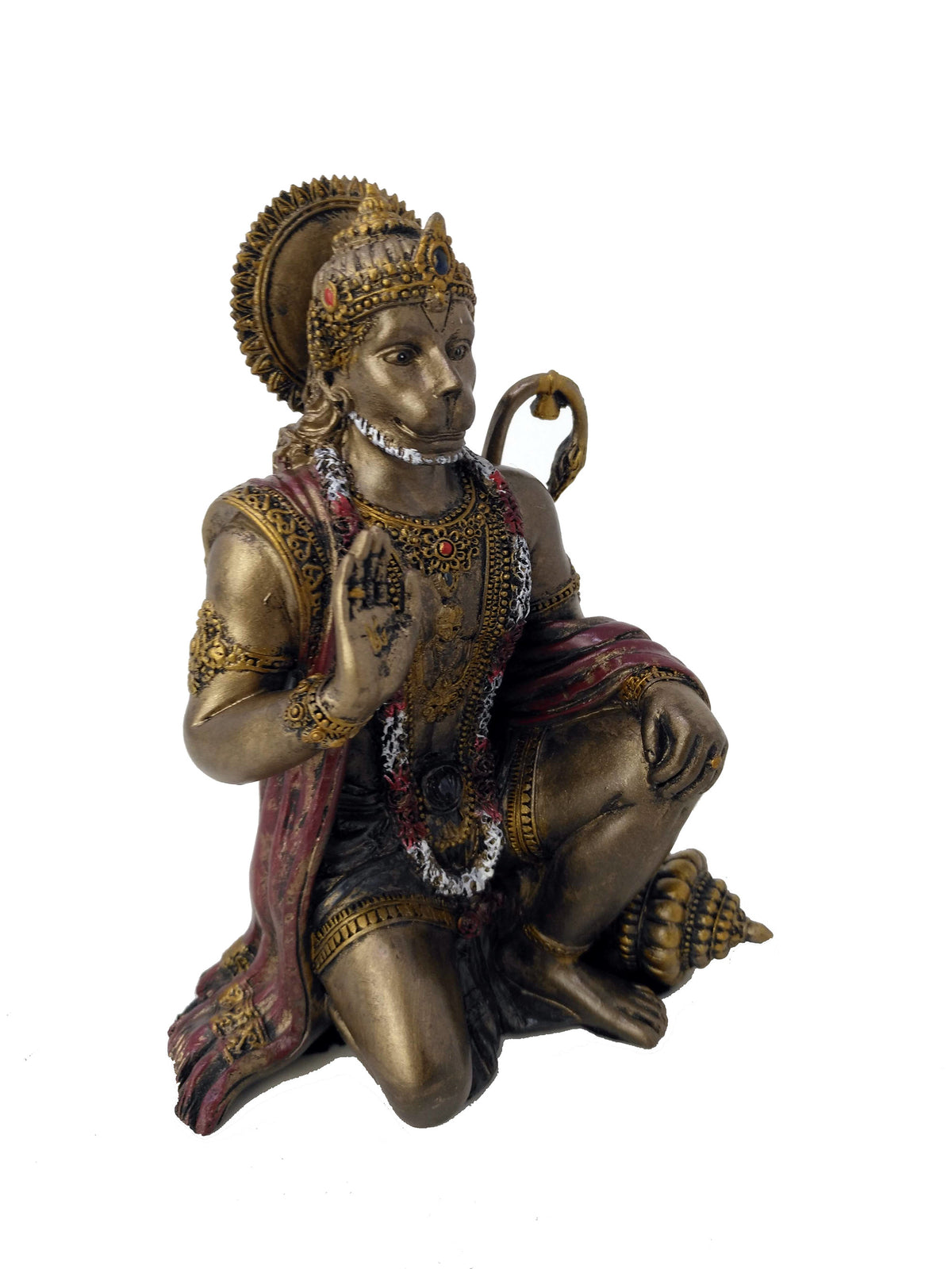 Lord Hanuman Kneeling Statue - God of Strength, Knowledge and Bhakti