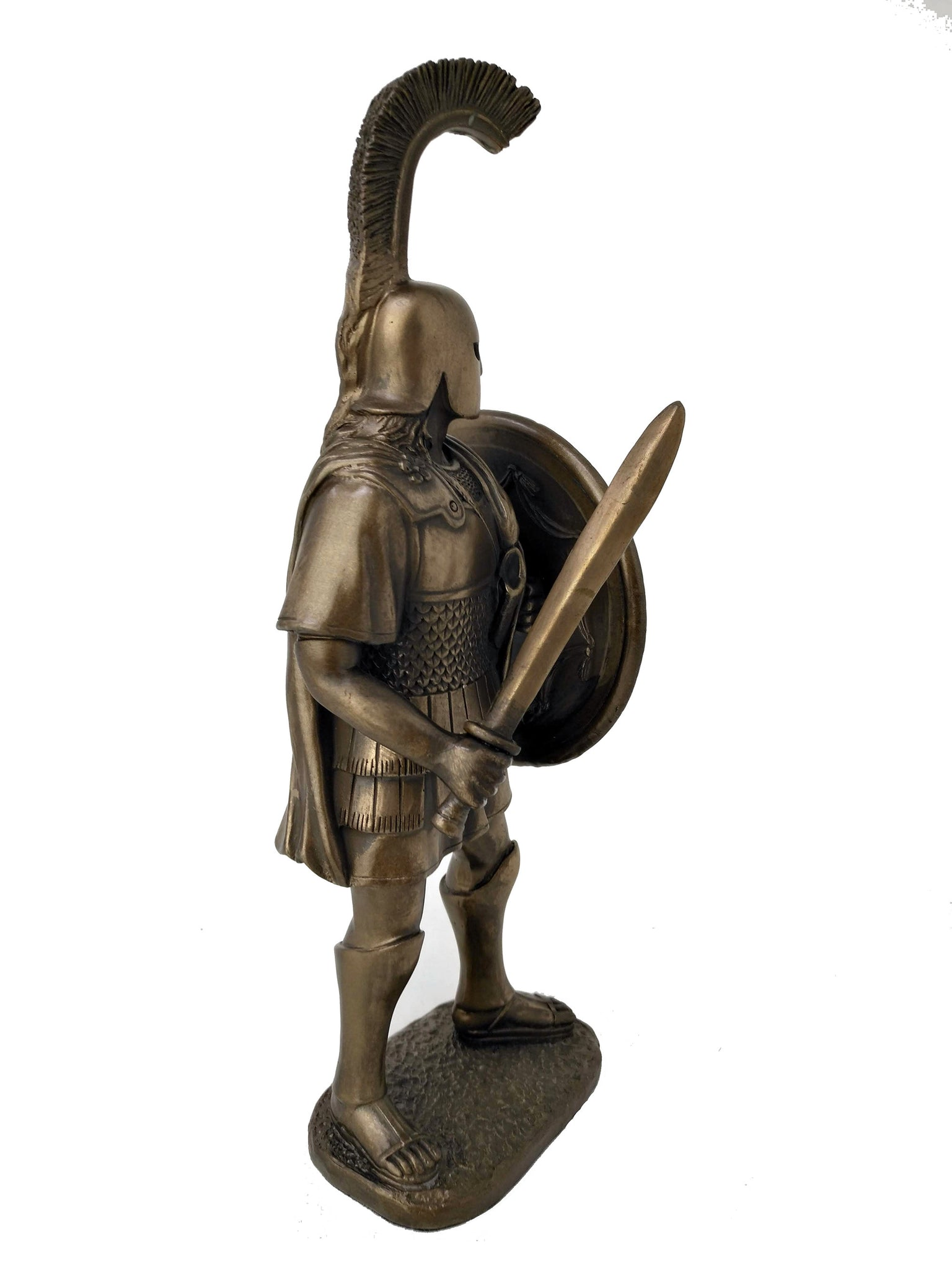 Alexander The Great Statue - King of Macedon Alexander The Great with Sword and Shield Statue - Ancient Greece 12'' / 30cm