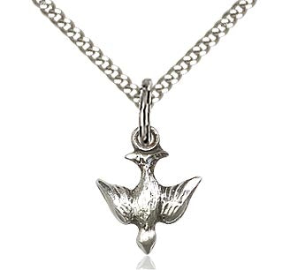 Holy Spirit Pendant on a 18 inch Curb Chain