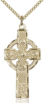 Kilklispeen Cross Pendant in Sterling Silver or Gold Filled
