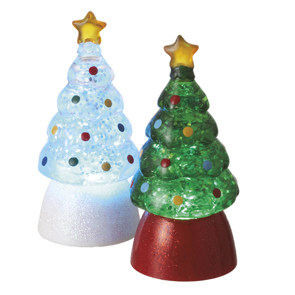 Lite Up Mini Christmas Trees