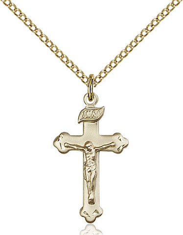 "Sterling Silver Crucifix on 18"" Stainless Chain 0669"