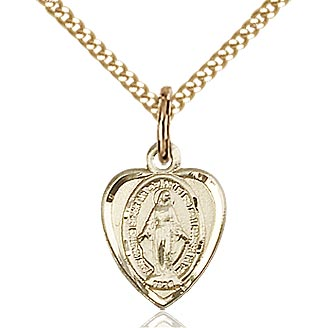 Medium Miraculous Medal on Chain