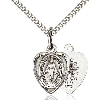 Medium Sterling Miraculous Medal on Chain