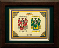 Two Coats of Arms Framed Print