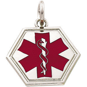 Silver Medical ID Pendant
