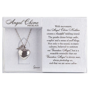 Angel Chime Heart Necklace