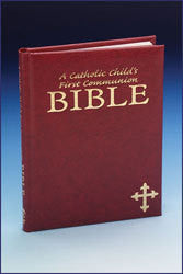 A Catholic Child's First Communion Bible - Maroon