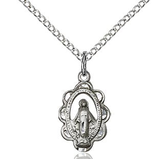 Miraculous medal in Sterling Silver or Gold Filled