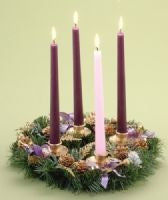 Traditional Pine Advent Wreath