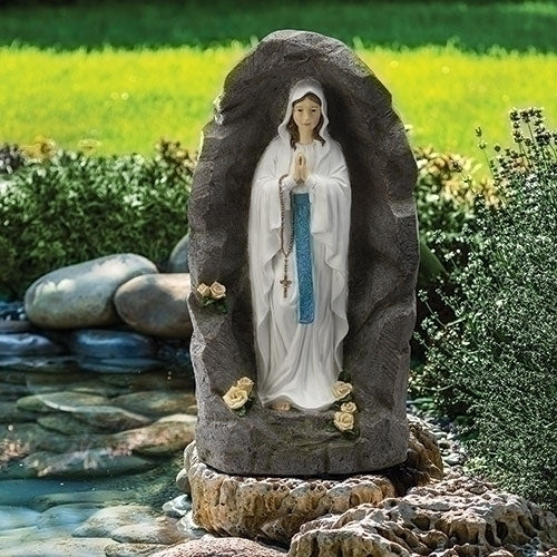 Our Lady of Lourdes Outdoor Grotto Garden Statue