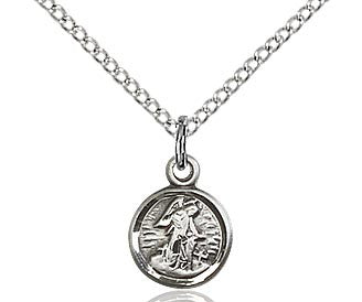 "Guardian Angel in Sterling Silver or Gold Filled on a 18"" Chain"