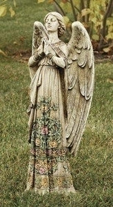 Rose Praying Angel Outdoor Statue