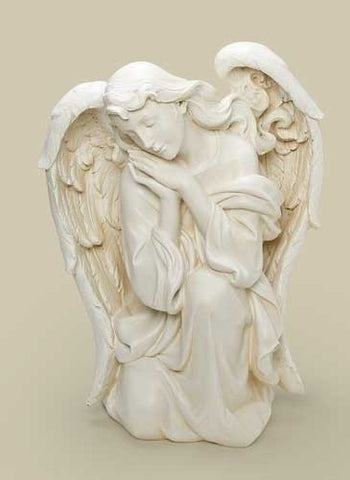 "39"" Scale White Kneeling Angel"