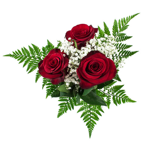 3 Stem Red Roses - Pre Order Pick Up At Store