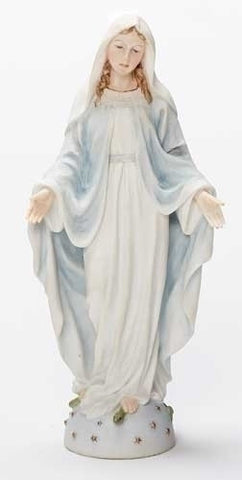 "8"" Color Our Lady of Grace Statue"
