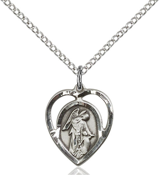 Guardian Angel within a Heart Necklace Available Sterling Silver, Gold Filled or 14kt Gold