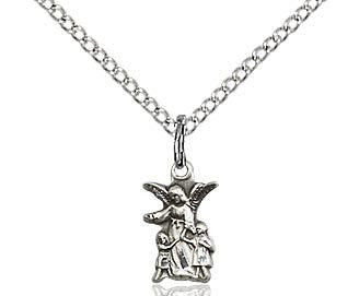 "Little Angel in Sterling Silver or Gold filled on a 18"" Chain"
