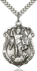 St. Michael Police Badge Medal