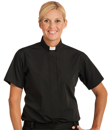 Black Tab Collar Clergy Shirt