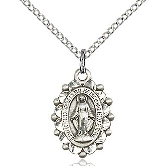 Miraculous Medal in Sterling or Gold Filled