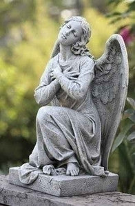 Kneeling Angel Outdoor Statue